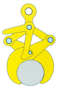 dimension of YG steel tube clamp