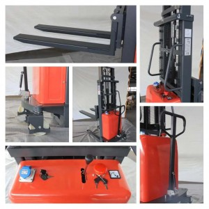 details of semi electric stacker